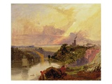 The Avon Gorge at Sunset (Oil on Paper) Giclee Print by Francis Danby
