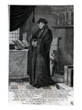 Desiderius Erasmus, 'Restorer of the Latin Language' (Engraving) Giclee Print by  Dutch