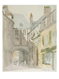 Place Barthelme, Paris, C.1829 (W/C and Grey Wash over Pencil on Paper) Giclee Print by David Cox