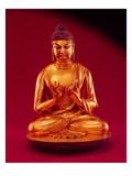 Buddha Vairocana (Dari), Tang Dynasty (618-907), Early 8th Century (Gilt Leaded Bronze) Giclee Print by  Chinese