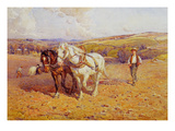 Ploughing Premium Giclee Print by Joseph Harold Swanwick