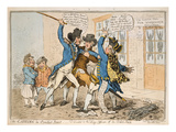 The Caneing in Conduit Street, Published by Hannah Humphrey, 1796 (Hand-Coloured Etching) Giclee Print by James Gillray