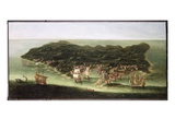 The Island of Barbados, C.1694 (Oil on Canvas) Giclee Print by Isaac Sailmaker