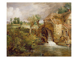 Mill at Gillingham, Dorset, 1825-26 (Oil on Canvas) Giclée-Druck von John Constable