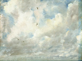 Cloud Study, 1821 (Oil on Paper Laid Down on Board) Reproduction procédé giclée par John Constable