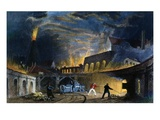 Lymington Iron Works on the Tyne, 1835 (Engraving) Giclee Print by Thomas Allom