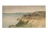 Lyme Regis, Dorset, C.1797 (W/C over Pencil on Textured Paper) Giclee Print by Thomas Girtin