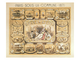 Scenes from the Paris Commune, 1871 (Colour Litho) Giclee Print by  French