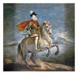 Equestrian Portrait of Philip III (1578-1621) c.1628-35 Giclée-Druck von Diego Rodriguez de Silva y Velazquez