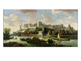 Windsor Castle Seen from the Thames, C.1700 (Oil on Canvas) Giclee Print by Johannes Vorsterman