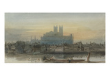 Westminster from Lambeth, C.1813 (W/C over Graphite with Scratching Out on Paper) Giclee Print by David Cox
