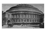 View of the Albert Hall, C.1900 (B/W Photo) Giclee Print by  English Photographer