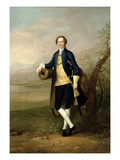Gentleman with a Cannon, 1741 (Oil on Canvas) Giclee Print by Arthur Devis