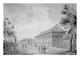 Hall of Audience at the Old Summer Palace, Beijing, 1793 (Engraving) Giclee Print by Sir John Barrow