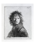 Self Portrait, 1630 (Etching) Giclee Print by  Rembrandt van Rijn
