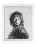 Self Portrait, 1630 (Etching) Premium Giclee Print by  Rembrandt van Rijn