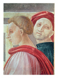 Heads of Two Men, from the Presentation of Mary in the Temple, 1433-34 (Fresco) (Detail) Giclee Print by Paolo Uccello