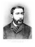Joseph Conrad at the Age of 26, Engraved after a Photograph from 1883 (Engraving) Giclee Print by  German photographer