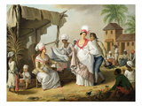 Linen Market, Roseau, Dominica, c.1780 Giclee Print by Agostino Brunias