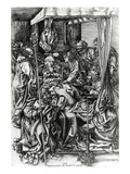 The Death of the Virgin, Engraved by Wenzel Von Olmutz, 1481 (Engraving) Giclee Print by Martin Schongauer
