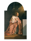 St. Charles Borromeo (1538-84) (Oil on Canvas) Giclee Print by Philippe De Champaigne