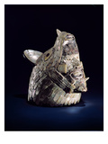 Head of an Animal with a Human Head in the Open Jaws, Found at Tula, Hidalgo, Mexico Giclee Print by Toltec