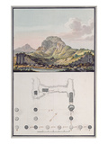 View of the Theatre at Sardis and a Plan of the Ionic Temple at Sardis, C.1750 Giclee Print by Giovanni Battista Borra