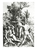 Hercules at the Crossroad, 1498 (Engraving) Giclee Print by Albrecht Dürer