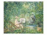 Woman Painting in a Landscape, 1900-10 Giclee Print by Pierre Laprade