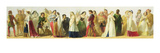 Procession of Characters from Shakespeare (Oil on Board) Giclee Print by  Irish