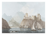 East View of the Forts Jellali and Merani, Muskah, Arabia, June 1793 Premium Giclee Print by Thomas Daniell
