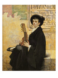 In Spain, 1882 (Oil on Canvas) Giclee Print by Louis Montegut