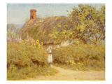 A Surrey Cottage (W/C on Paper) Giclee Print by Helen Allingham