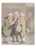 The Doctor's Consultation, 1815-1820 (Pen and Ink and W/C over Graphite on Paper) Giclee Print by Thomas Rowlandson