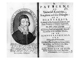 Titlepage and Frontispiece to 'A Patterne of Universall Knowledge' Giclee Print by  Czech