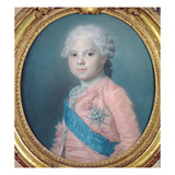 Portrait of Louis of France (1755-1824) Count of Provence and Future King Louis Xviii (Pastel) Giclee Print by Maurice Quentin de La Tour