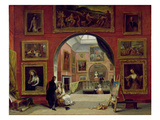 Interior of the Royal Institution, During the Old Master Exhibition, Summer 1832, 1833 Giclee Print by Alfred Joseph Woolmer