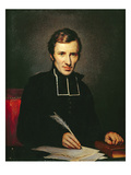Portrait of the Abbot of Lamennais, 1827 Premium Giclee Print by Paulin Jean Baptiste Guerin