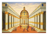 Act I, Scenes Vii and Viii: Baccus' Temple Giclee Print by Giacomo Torelli