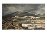 Tummel Bridge, Perthshire, C.1801-03 (Oil on Panel) Giclee Print by Joseph Mallord William Turner