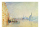 Venice, the Mouth of the Grand Canal, C.1840 (W/C on Paper) Giclée-tryk
