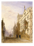 Exeter College, Oxford, 1835 (W/C with Graphite and Gum on Paper) Giclee Print by Joseph Murray Ince