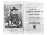 Titlepage and Frontispiece to 'The Antiquities of Warwickshire' by William Dugdale, 1656 Lmina gicle por Wenceslaus Hollar