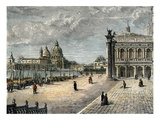 Piazzetta Di San Marco (Engraving) Giclee Print by  English
