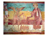 Temptation of Christ in the Desert by the Devil, 12th Century (Fresco) Giclee Print by  French