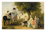 The Drummond Family, C.1769 (Oil on Canvas) Giclee Print by Johann Zoffany