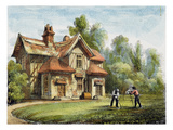 Queen's Cottage, Richmond Gardens, Plate 17 Giclee Print by George Ernest Papendiek