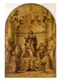 St. Anne (Sepia Altarpiece) Giclée-tryk af Fra Bartolommeo