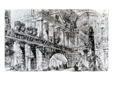 Temple Courtyard (Pen and Ink on Paper) Reproduction procédé giclée par Giovanni Battista Piranesi