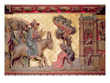 Detail of the Entry of Christ into Jerusalem, 1340-51 (Painted Stone) Giclee Print by Jean Ravy